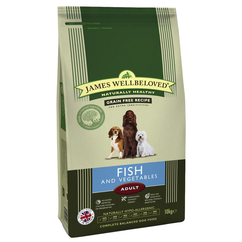 James Wellbeloved Dry Dog Food Economy Packs - Adult Large Breed Fish & Rice 2 x 15kg