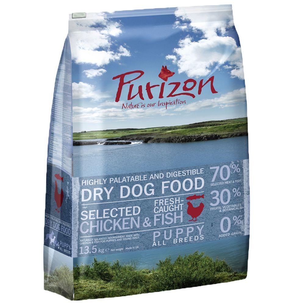 12kg Purizon Grain-Free Dry Dog Food + 250g Roast Chicken Skin Free