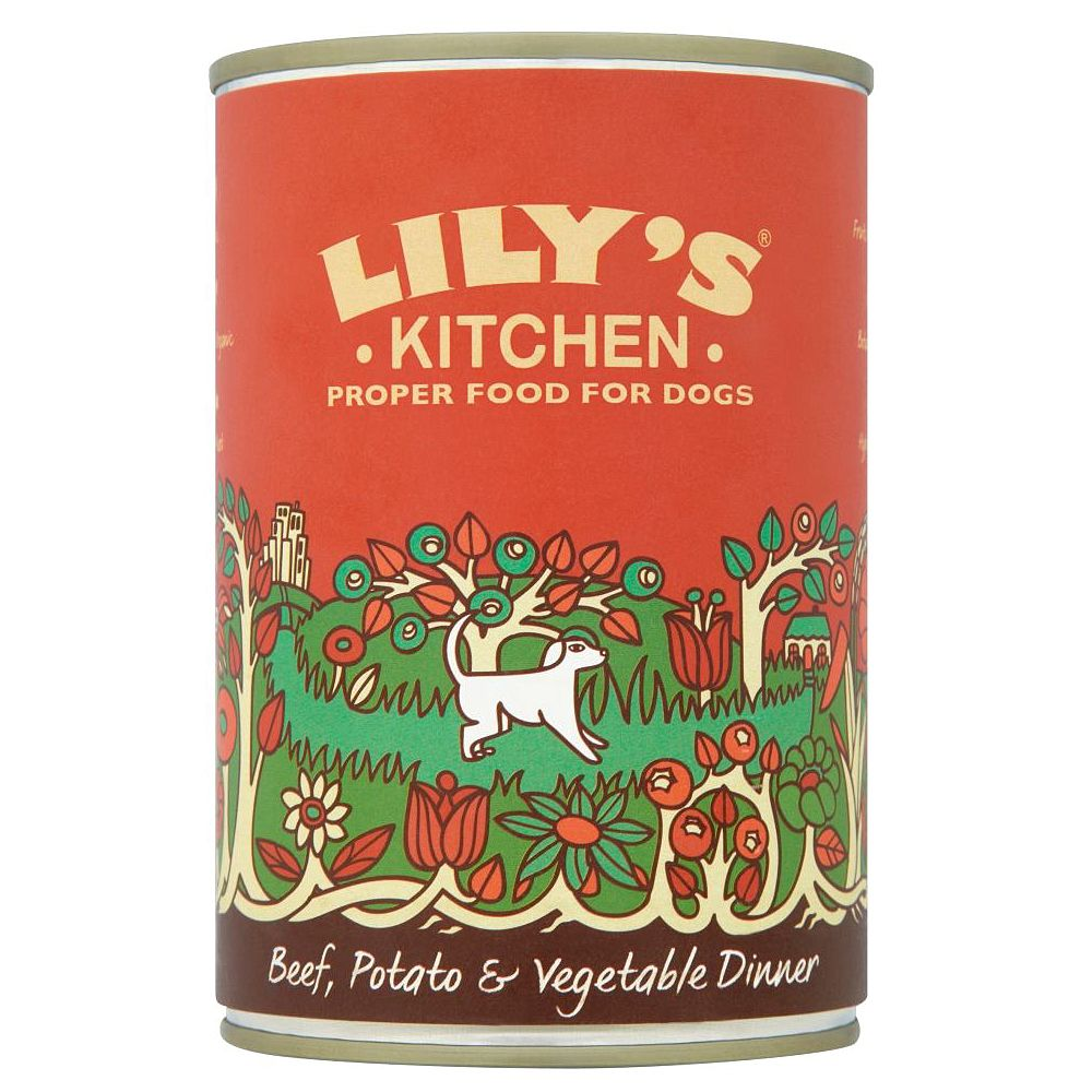 Lily's Kitchen Beef Potato & Vegetable Dinner for Dogs - 6 x 400g