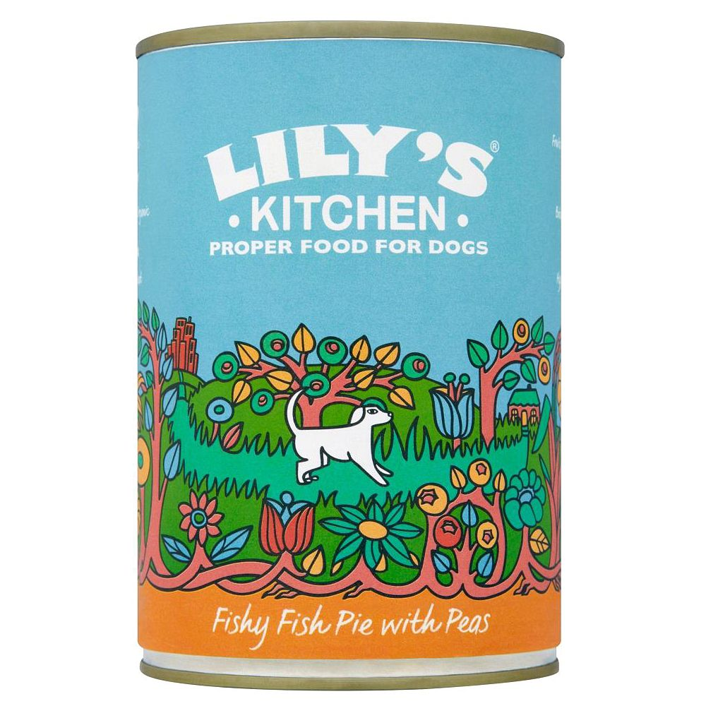 Lily's Kitchen Fishy Fish Pie with Peas for Dogs - 6 x 400g