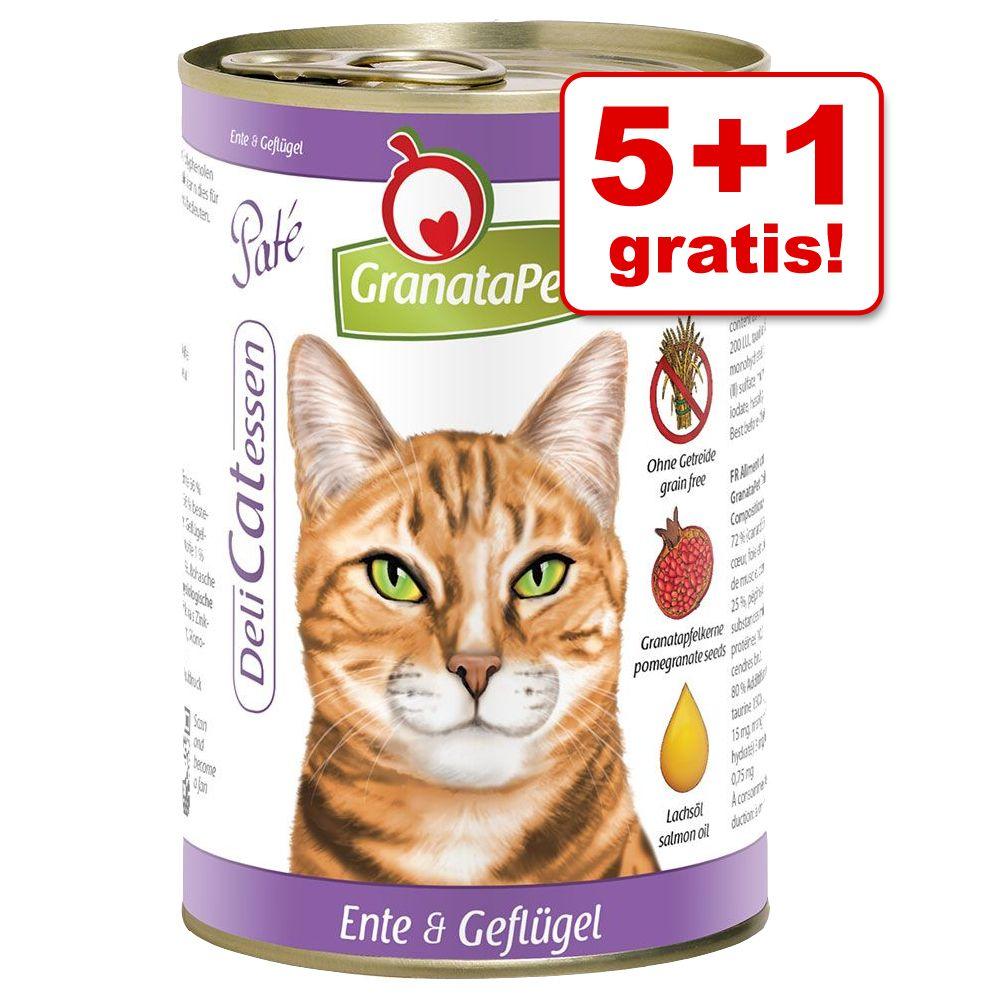 5 + 1 gratis! GranataPet DeliCatessen 6 x 400 g...