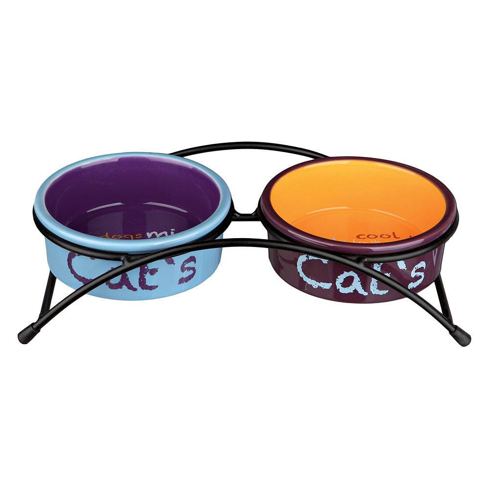 Trixie Eat on Feet Ceramic Cat Bowl Set