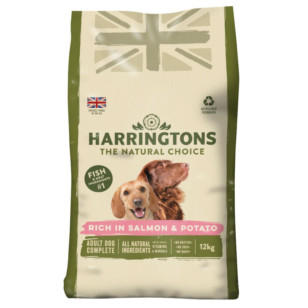12kg Salmon & Potato Adult Harringtons Dry Dog food