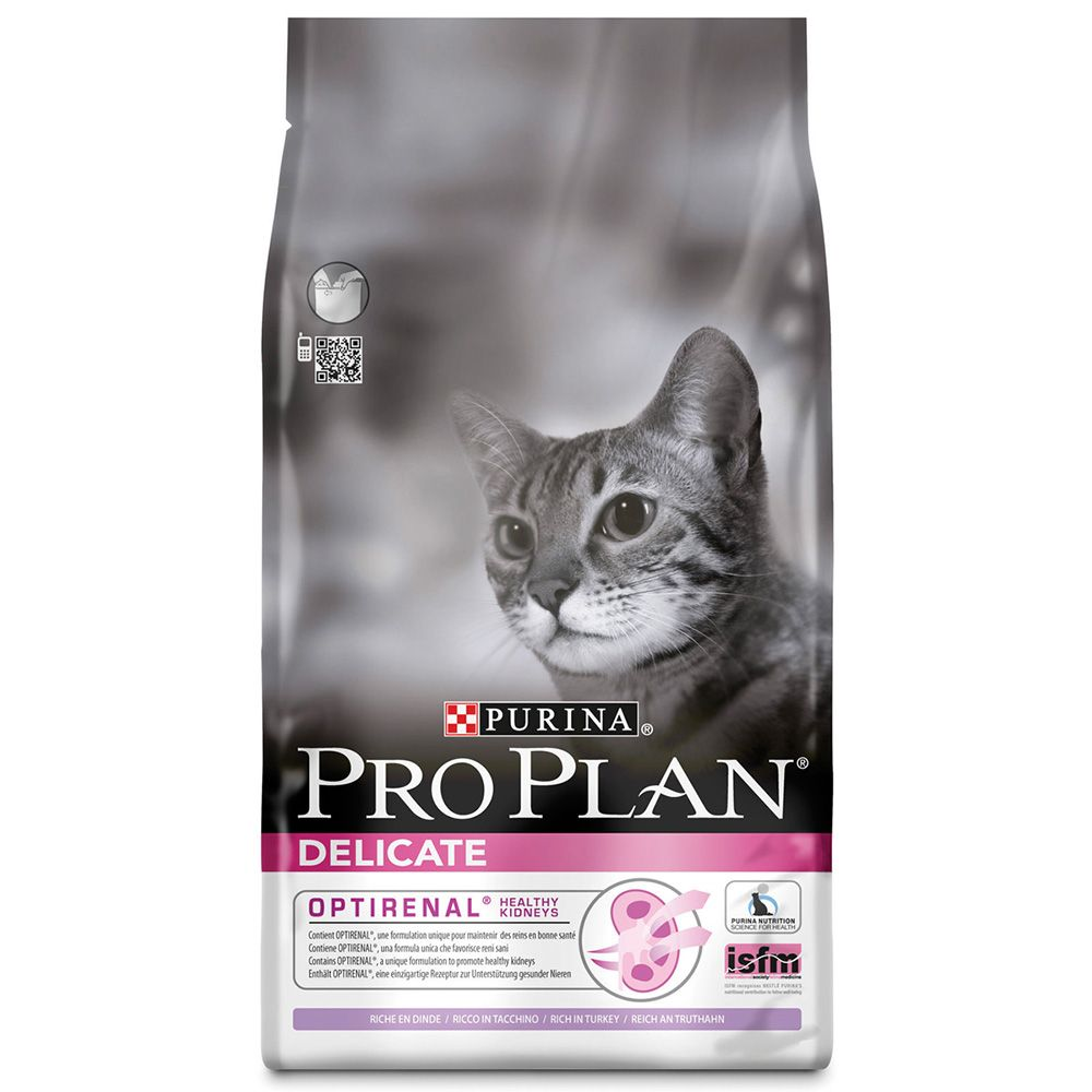 Purina Pro Plan Delicate Cat Optirenal - Rich in Turkey - Economy Pack: 2 x 10kg