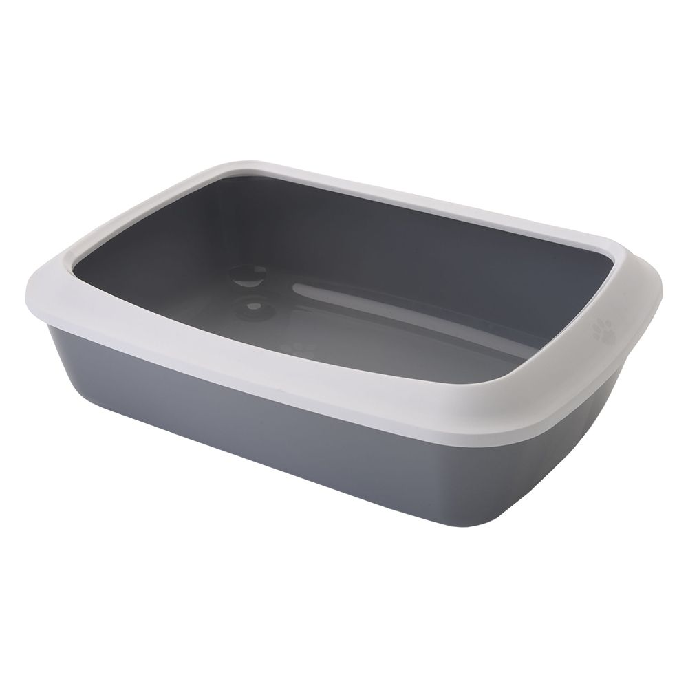 Savic Iriz Grey & White Protective Edge Light Litter Tray