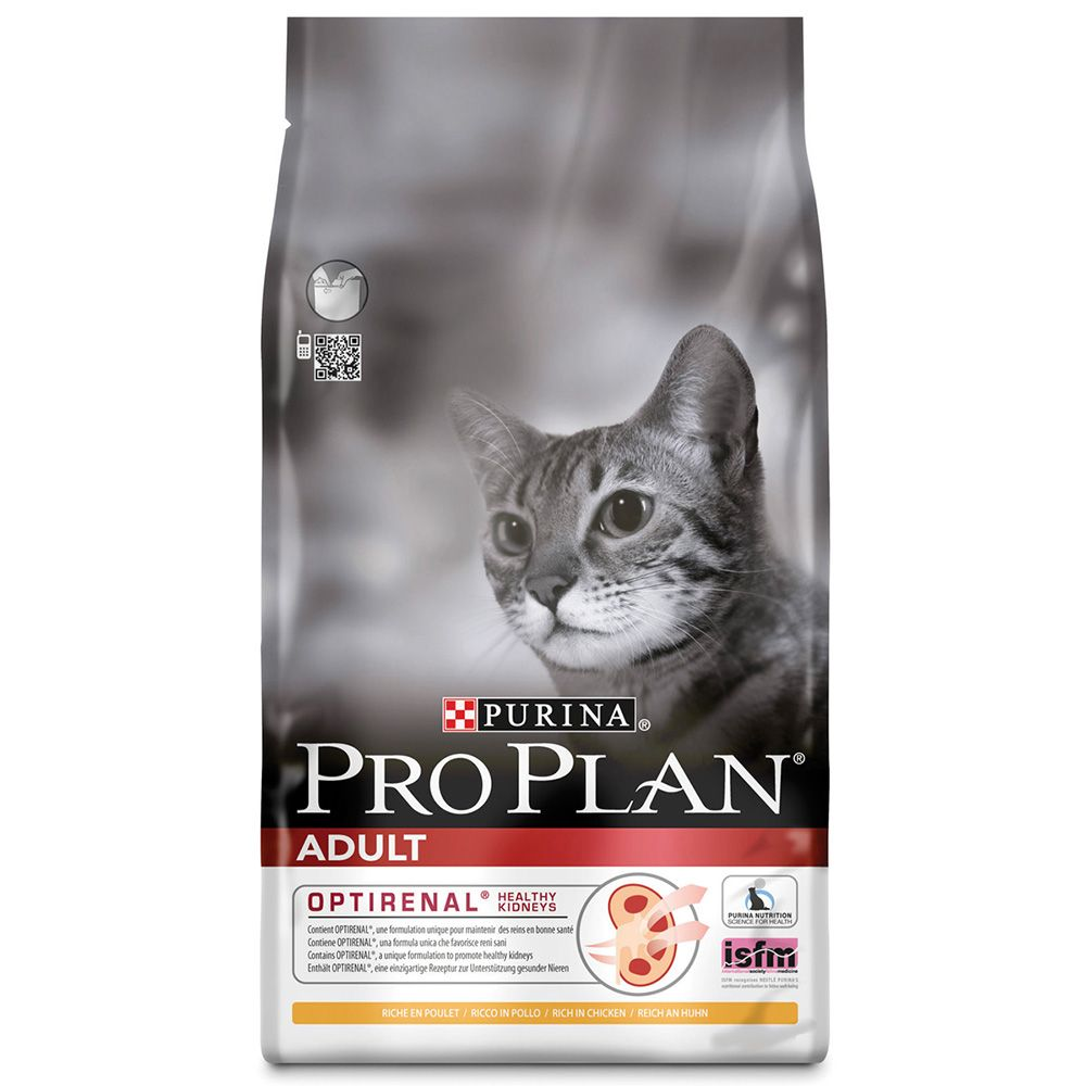 Purina Pro Plan Adult Cat Optirenal - Rich in Chicken - 10kg