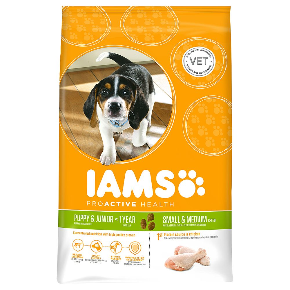 Iams Proactive Health Puppy & Junior Small & Medium - Economy Pack: 2 x 12kg