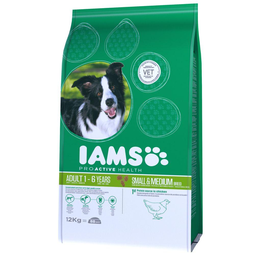 Foto Iams Proactive Health Adult Small & Medium Ricco di Pollo - 12 kg Iams Adult