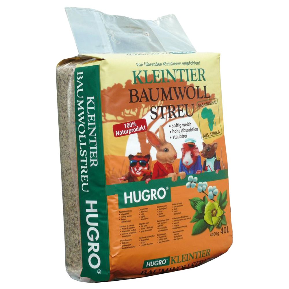 Hugro Cotton Litter - Economy Pack: 2 x 40l