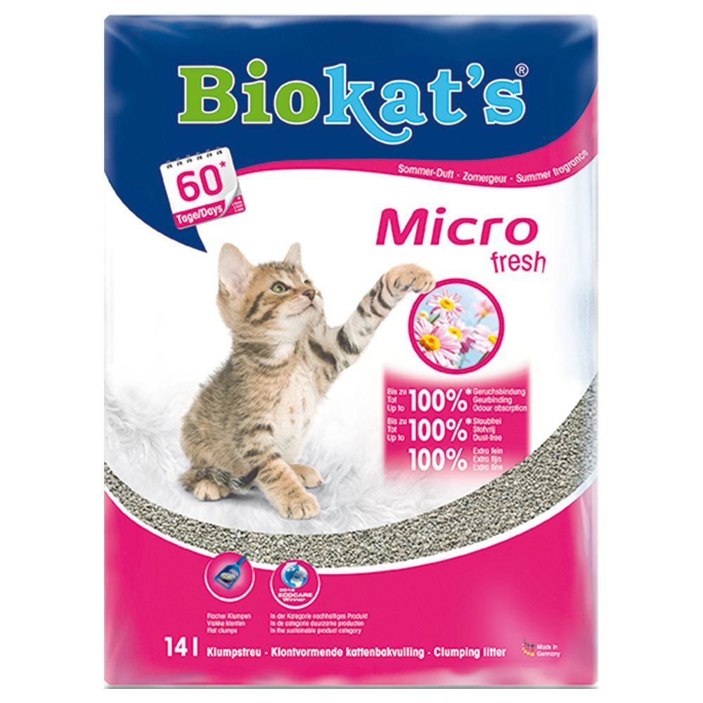 Biokat's Micro Fresh Cat Litter - Economy Pack: 2 x 14l