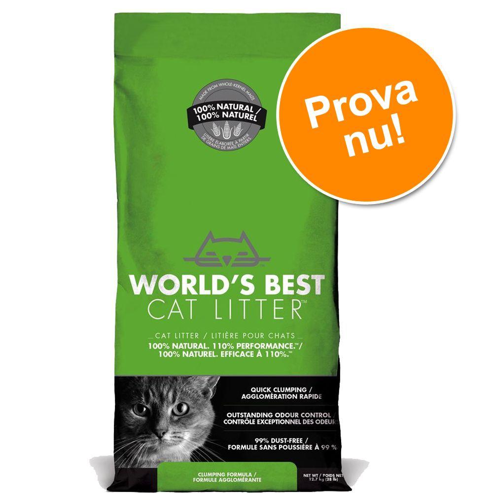Provpack: 6,35 kg World's Best Cat Litter kattsand - World's Best Cat Litter extra stark
