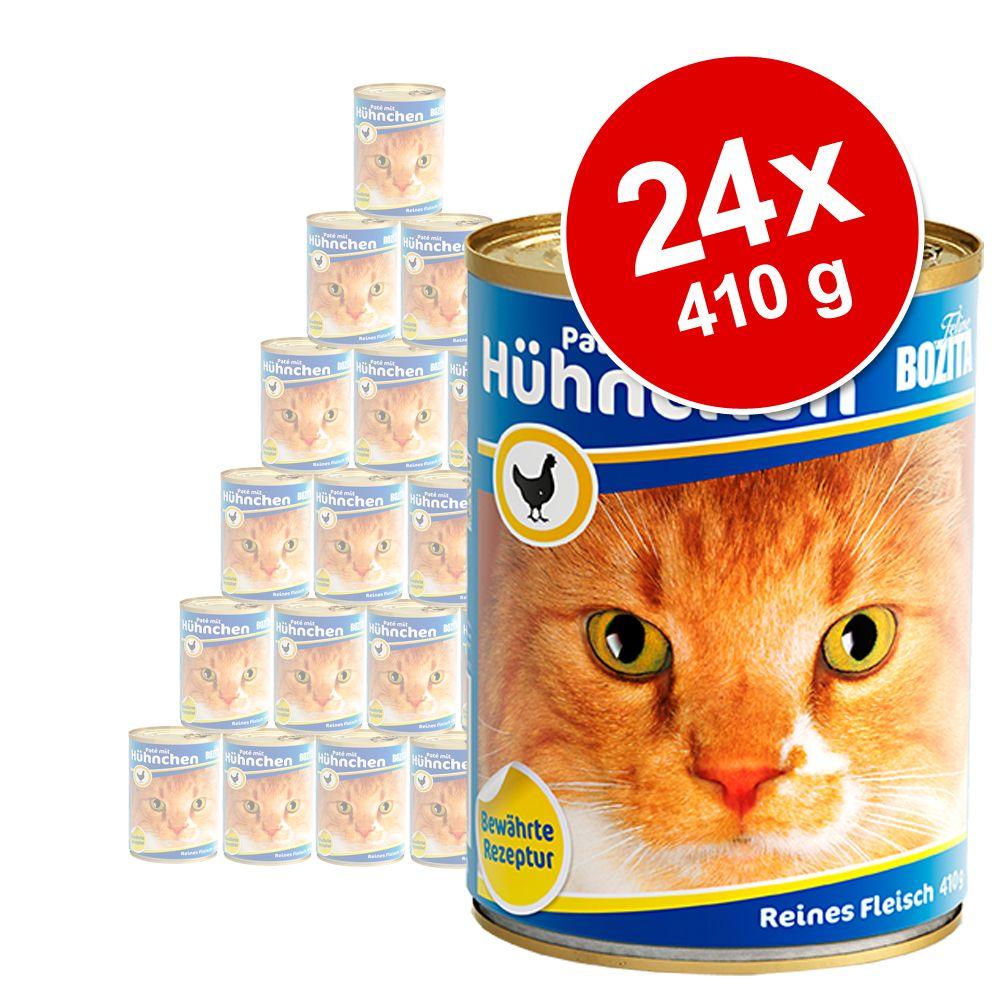 Ekonomipack: Bozita våtfoder på burk 24 x 410 g - Blandpack kött: Kyckling + Nötkött