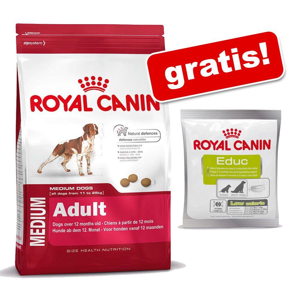 Duże opakowanie Royal Canin Size + przysmak Royal Canin Educ gratis! - Maxi Adult 5+, 15 kg