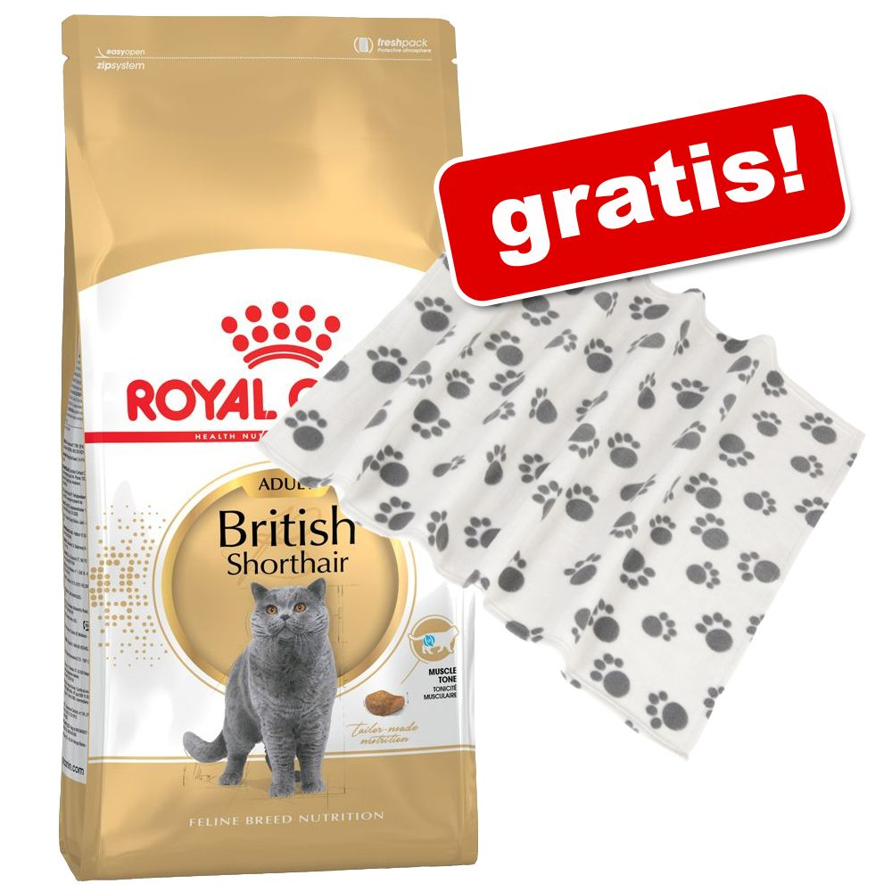 10 kg Royal Canin Breed + Fleecedecke Pawty gra...