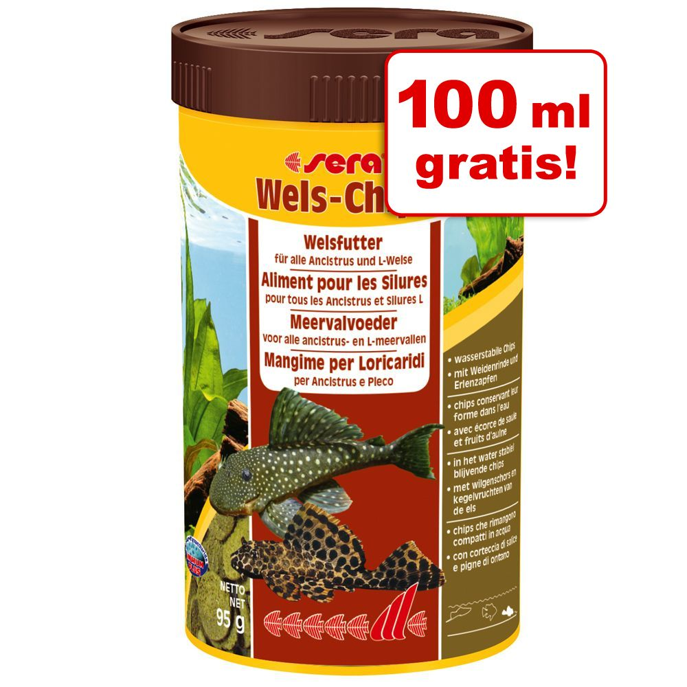 100 ml gratis! Sera Wels-Chips Pokarm w tabletkach, 250 ml - 250 ml