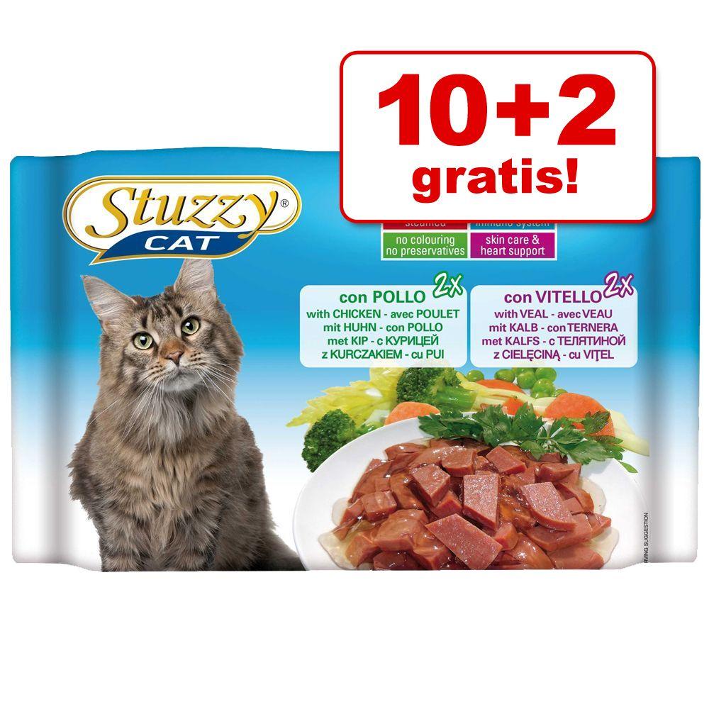 10 + 2 gratis! Pakiet próbny Stuzzy Cat w saszetkach, 12 x 100 g - Sterilized, kurczak / indyczka