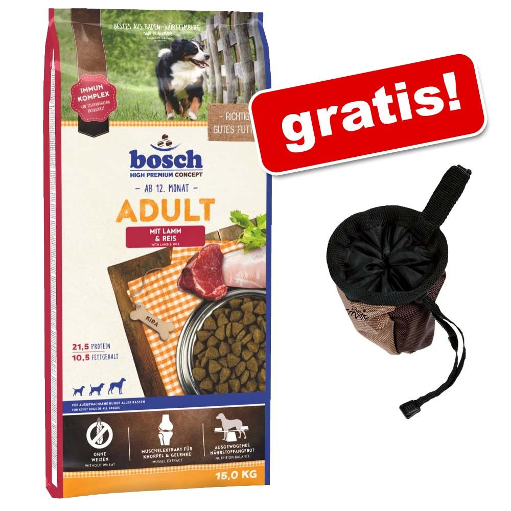 Duże opakowanie Bosch + Torba na smakołyki Trixie Dog Activity Baggy Deluxe gratis! - Adult Fish & Potato, ryba i ziemniak, 15 kg