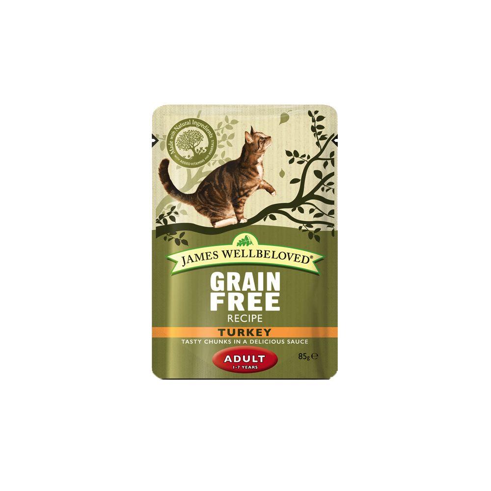 12x85g Turkey Pouches James Wellbeloved Wet Cat Food