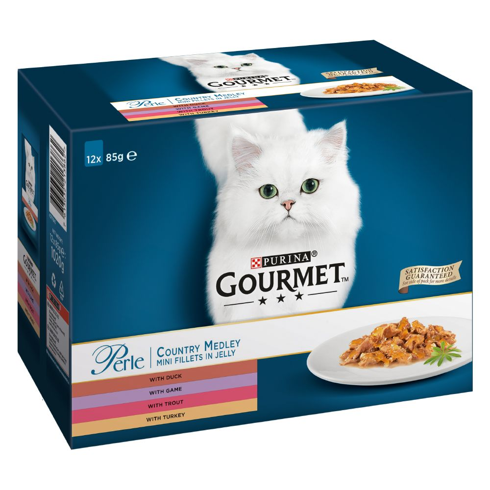 12x85g Delicate Meats Duo Gourmet Perle Wet Cat Food