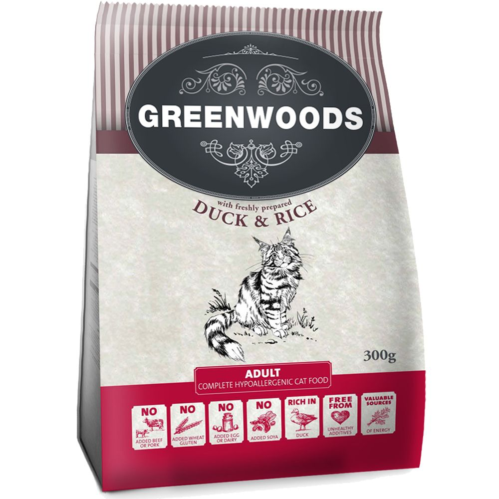 Greenwoods Adult Dry Cat Food Mixed Trial Pack 3 x 300g* - Adult Mixed Trial Pack