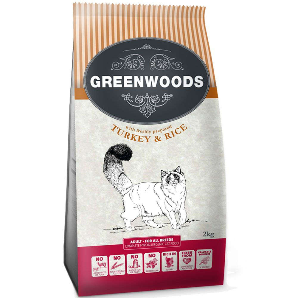 Greenwoods Trial Pack I - 2kg Dry Cat Food + 8l Litter* - Adult Duck & Rice (2kg) + Litter (8l)