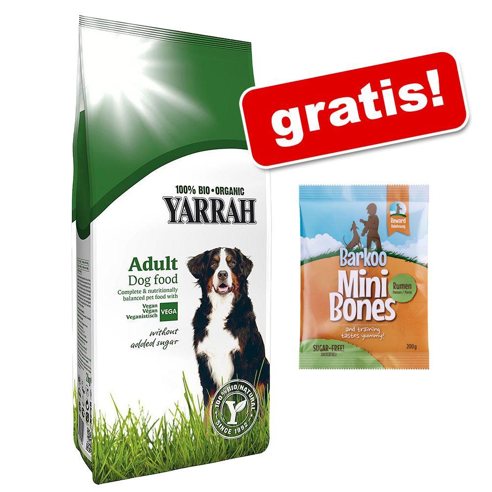 10 | 15 kg Yarrah Bio + 200 g przysmak Barkoo Mini Bones, żwacze, gratis! - Kurczak i zboża, 15 kg