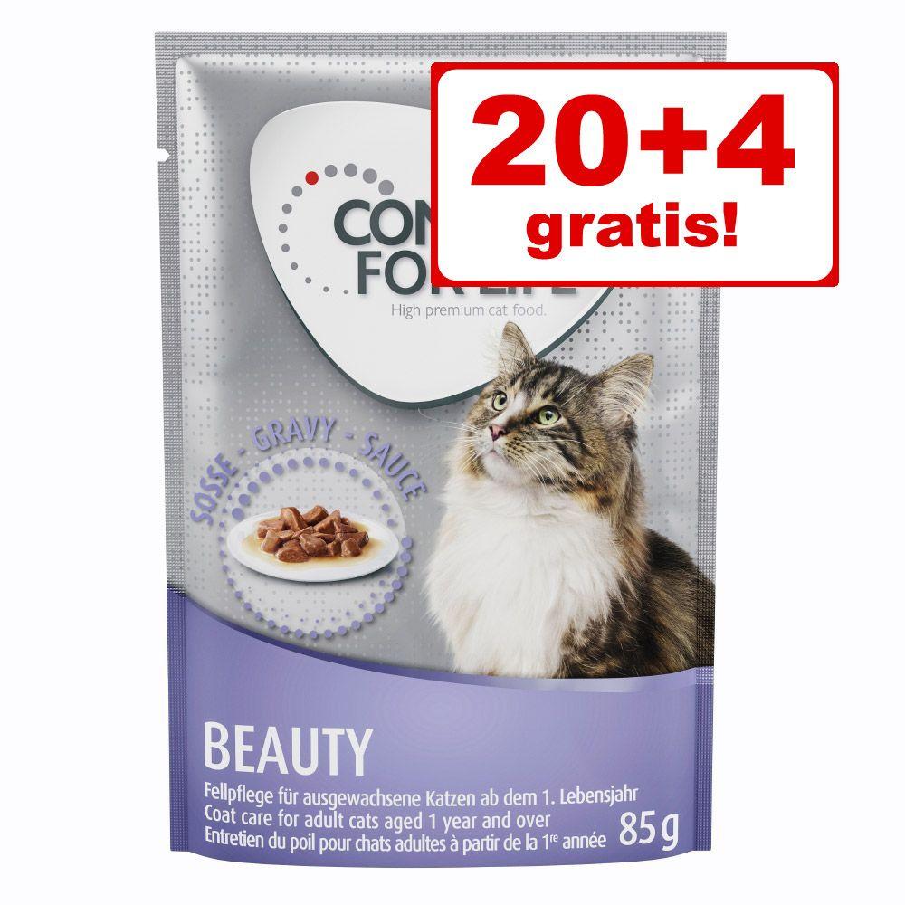 20+4 på köpet! 24 x 85 g Concept for Life våtfoder för katter - Kitten - i sås