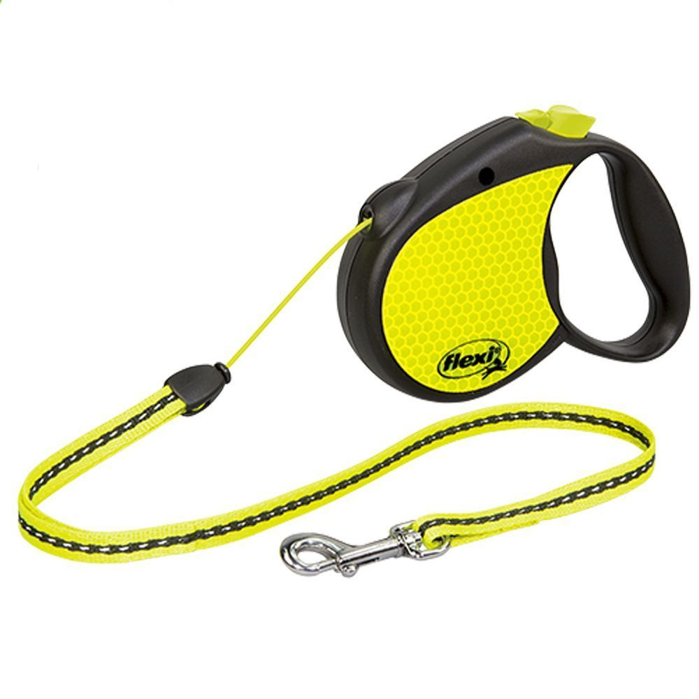 flexi Neon Reflect Dog Lead - Small - Neon