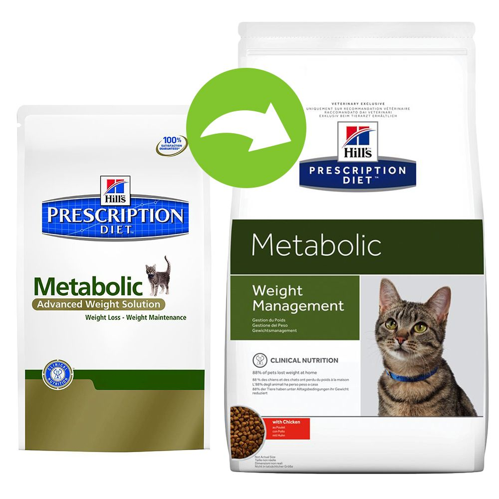 Hill's Prescription Diet Feline - Metabolic Advanced Weight Solution - Economy Pack: 2 x 8kg