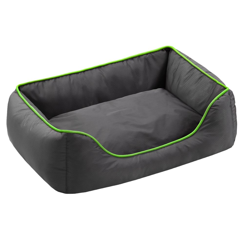 Honeycomb Dog Bed Grey / Green