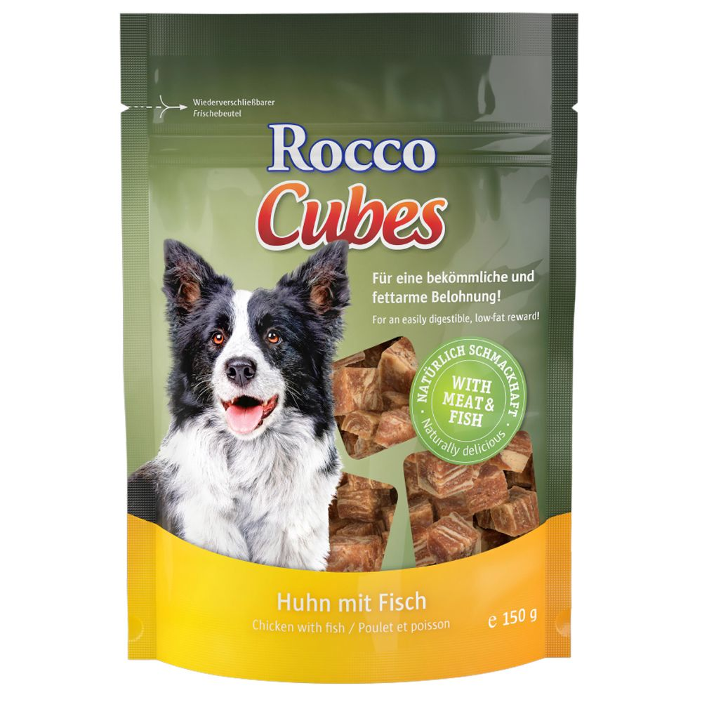 150g Rocco Cubes – 30% Off!* – Chicken with Fish (150g)