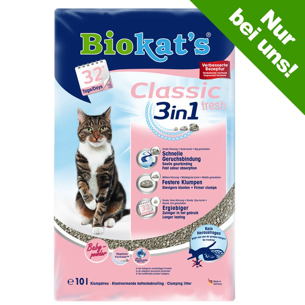 Biokat´s Classic Fresh 3in1 Babypuderduft - 10 l