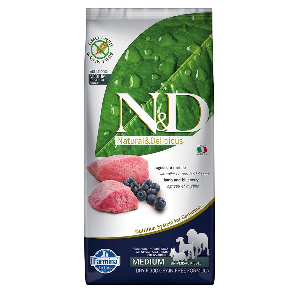 Foto Farmina N&D Grain Free Adult Medium Agnello e Mirtillo - 12 kg