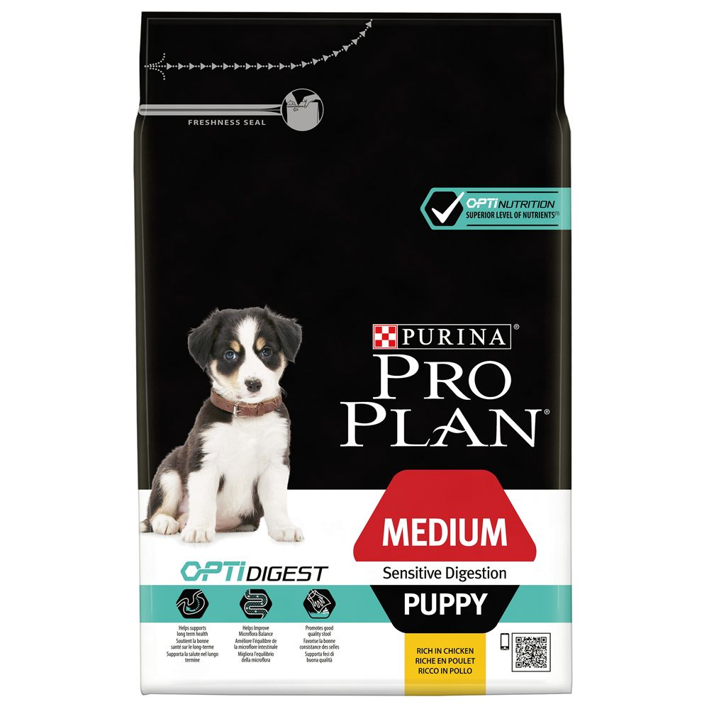 Pro Plan Puppy Medium Sensitive Digestion OptiDigest Chicken - 12kg