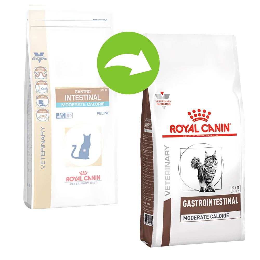 Royal Canin Veterinary Diet Feline Gastro Intestinal Moderate Calorie - Ekonomipack: 2 x 4 kg