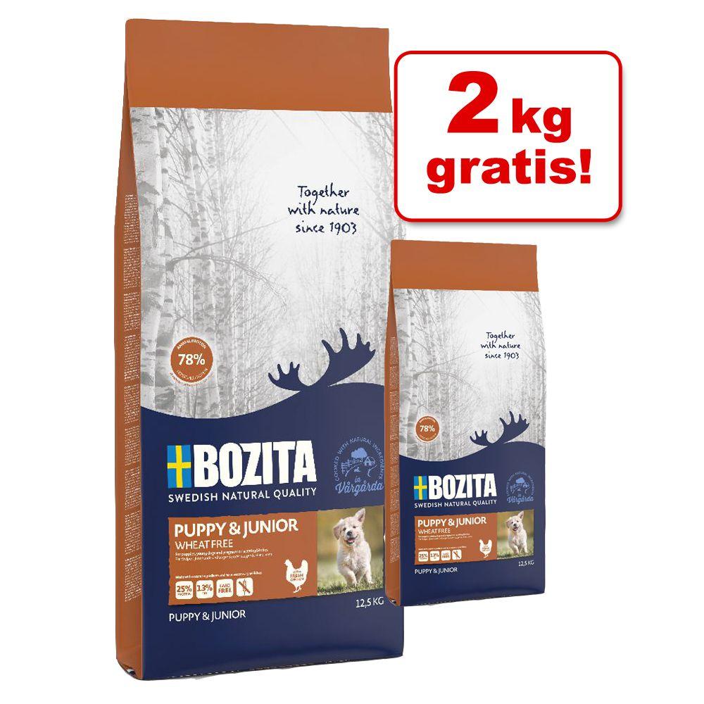 2 kg gratis! 4 / 14,5 kg Bozita Puppy & Junior ...