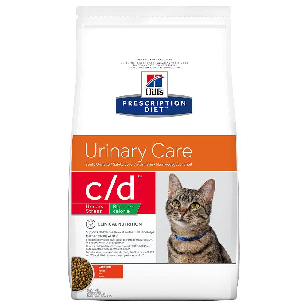 Hill's Prescription Diet Feline c/d Urinary Stress Reduced Calorie - Ekonomipack: 2 x 8 kg