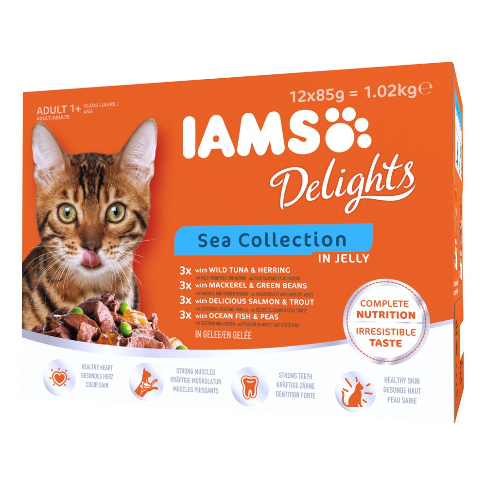 Adult Sea Collection in Jelly IAMS Delights Wet Cat Food