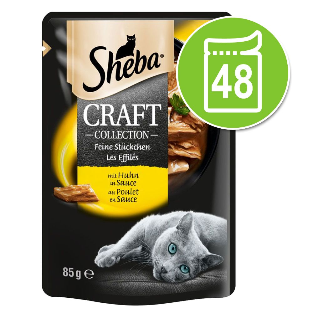 Sheba Craft Collection Pack 48 x 85 g - Huhn
