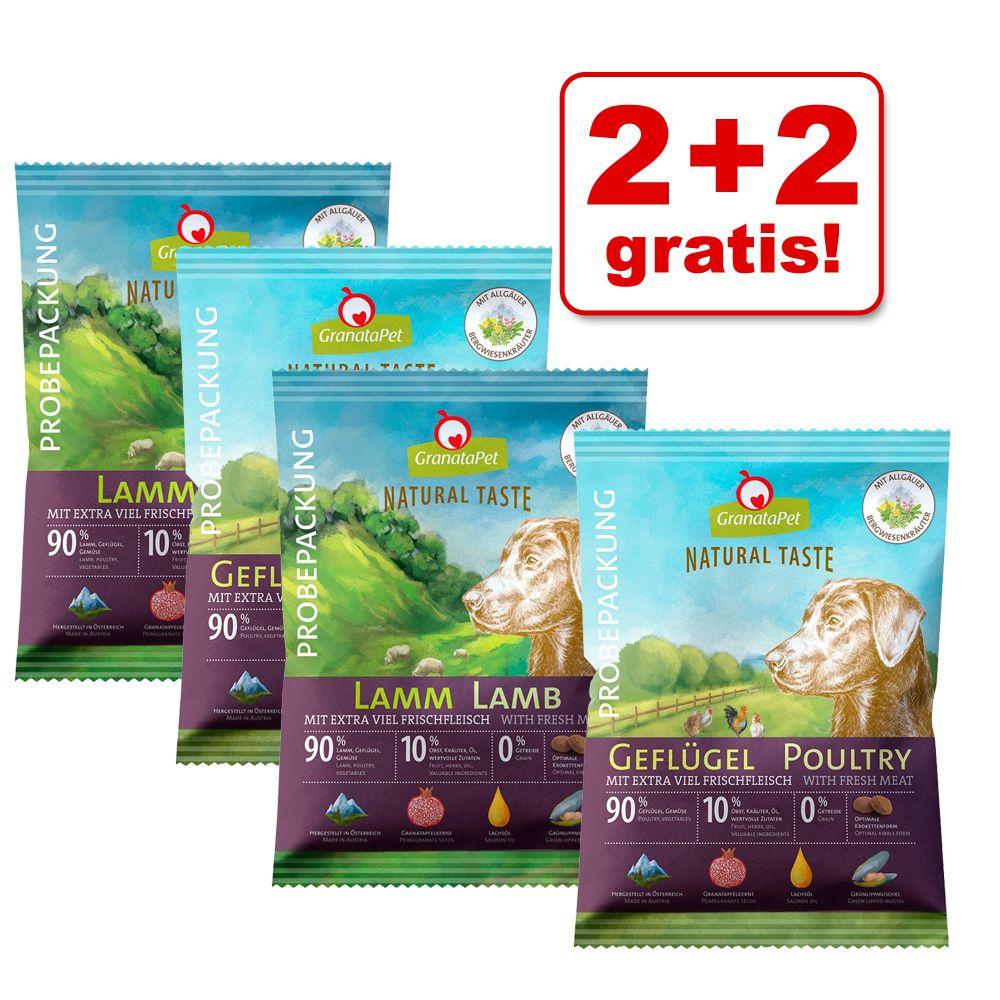 2 + 2 gratis! 4 x 80 g GranataPet Natural Taste...