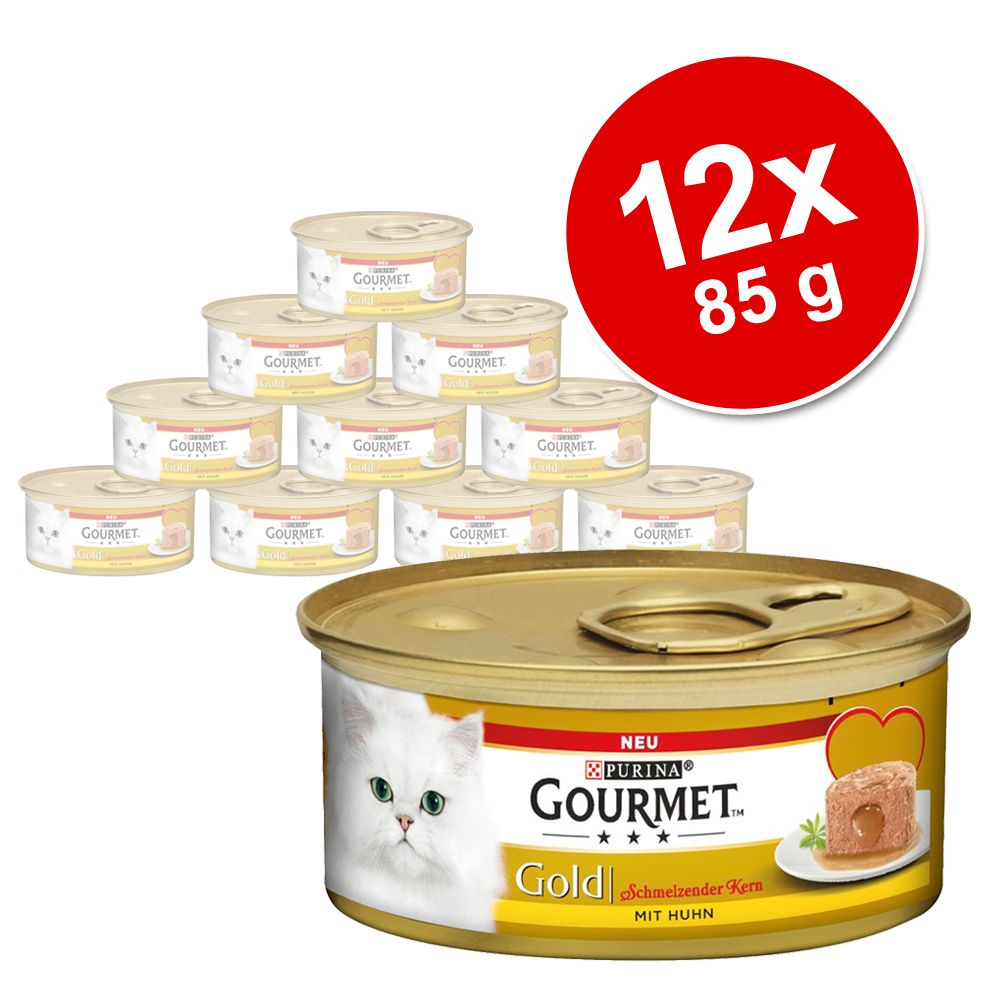 Gourmet Gold z nadzieniem, 12 x 85 g - Kurczak