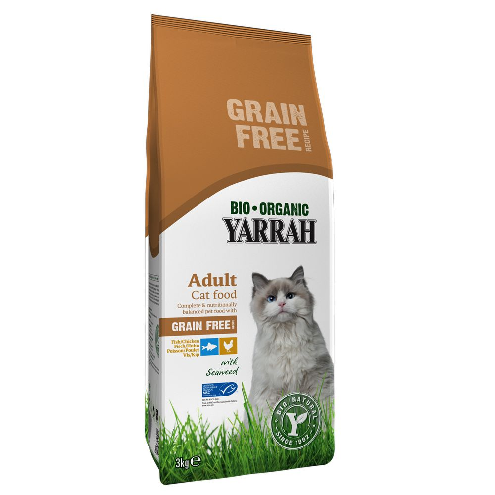 Yarrah Organic Grain Free with Chicken & Fish - 3kg