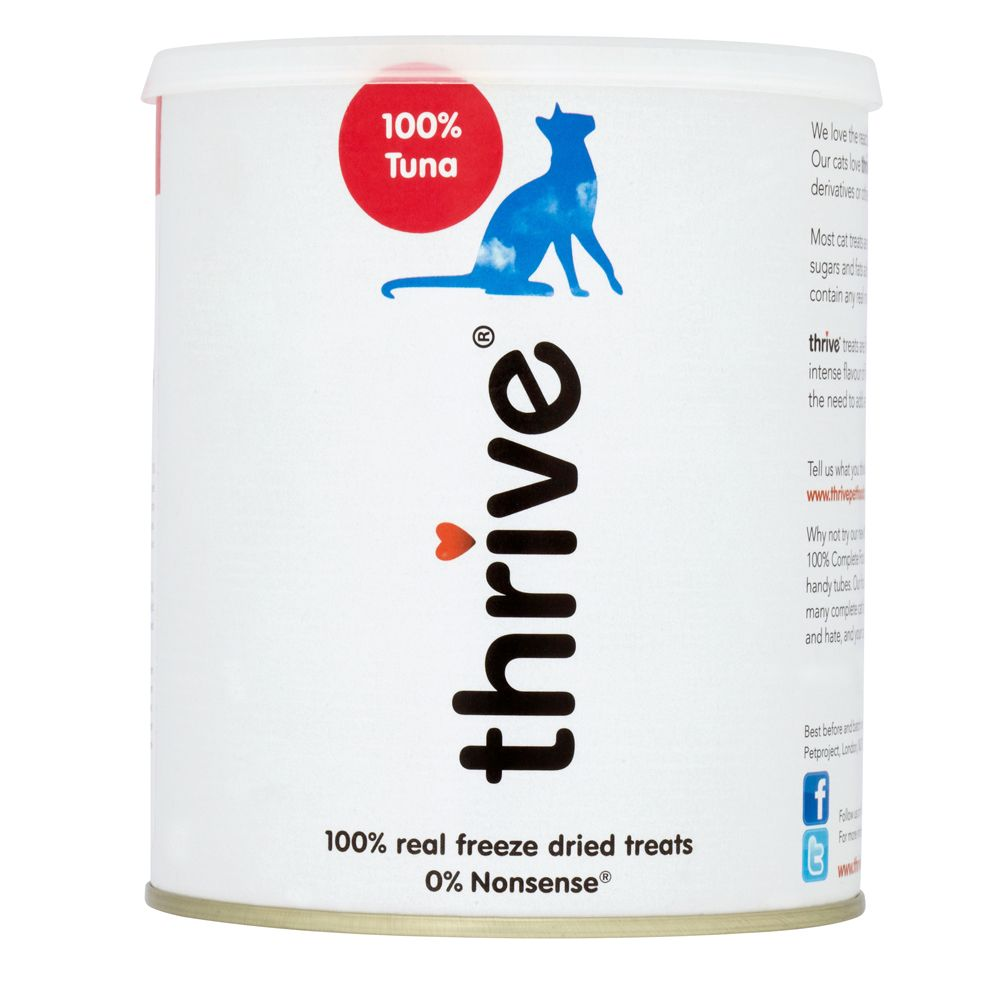 thrive Cat Treats Maxi Tube - Tuna - Saver Pack: 2 x 180g