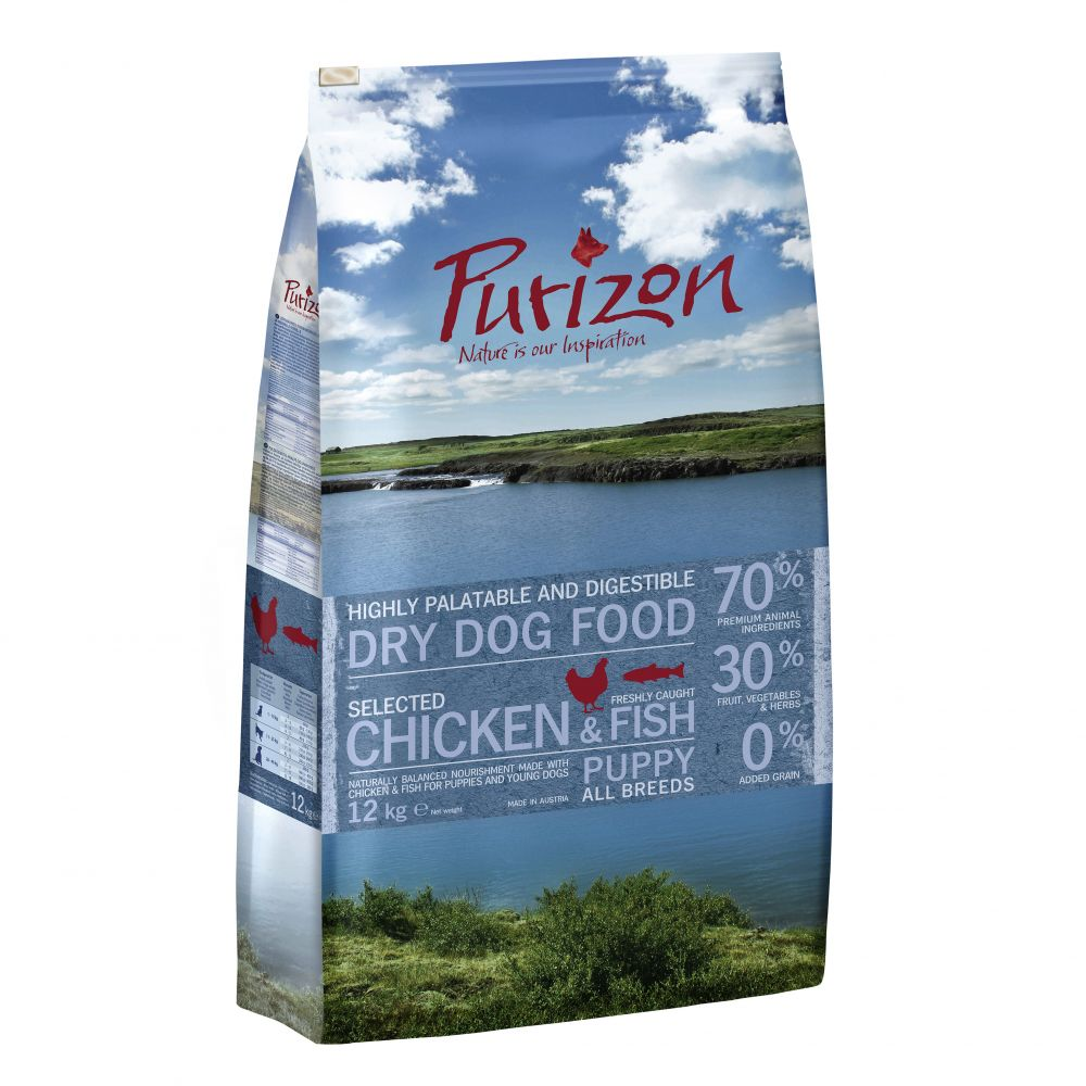 Chicken & Fish Puppy Grain-Free Purizon Dry Dog Food