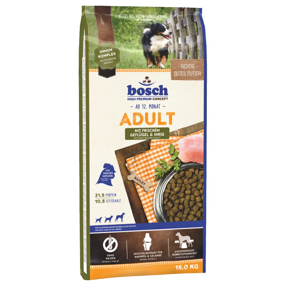 Bosch Adult Poultry & Millet 15kg Dry Dog Food
