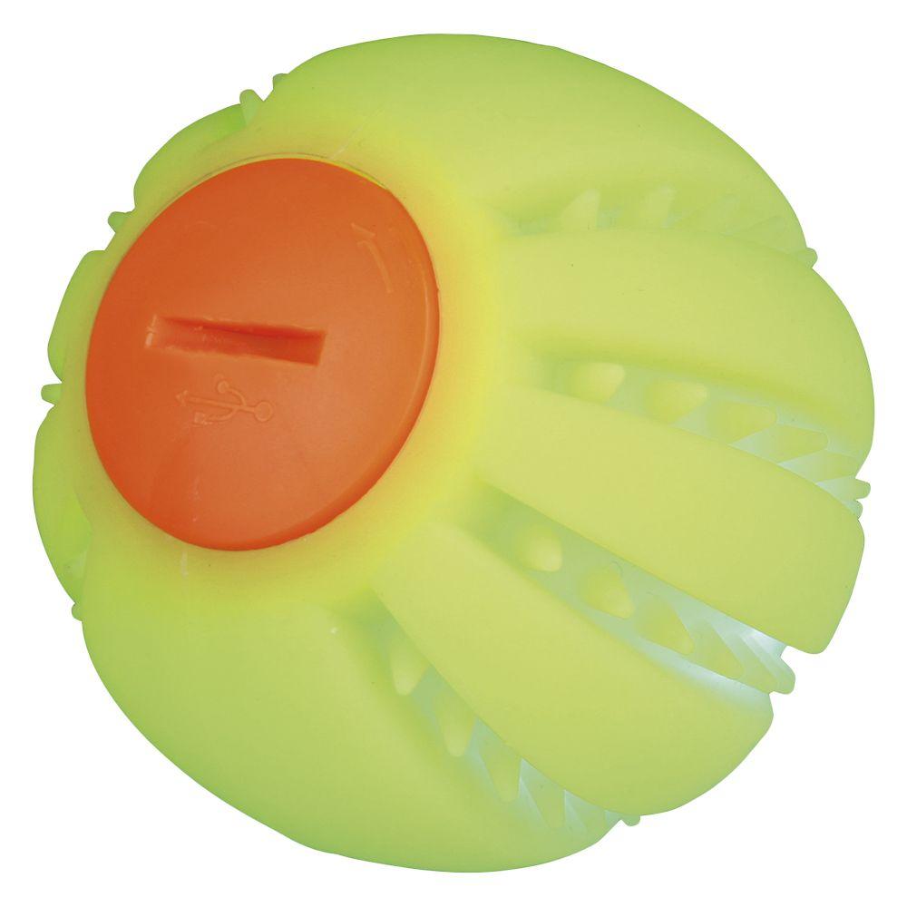 Trixie Balle lumineuse USB pour chien - 1 balle de 6 cm de diamètre