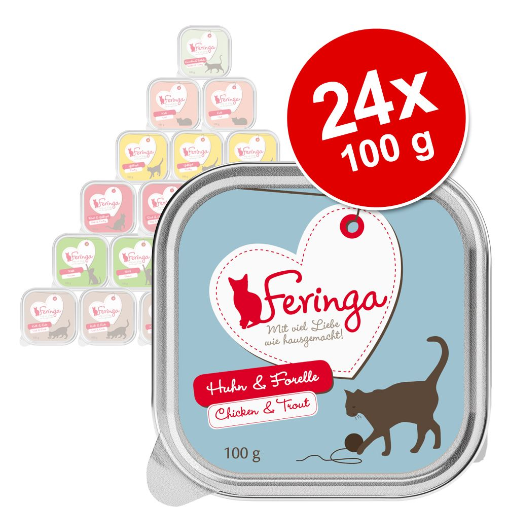 Ekonomipack: Feringa portionsform 24 x 100 g Lax & kalkon