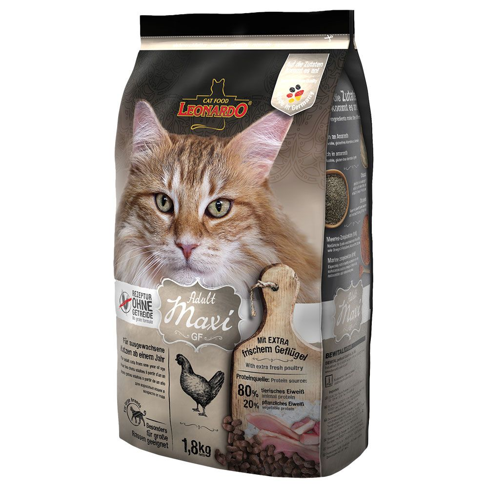 Leonardo Adult Maxi Grain-Free Dry Cat Food - 1.8kg