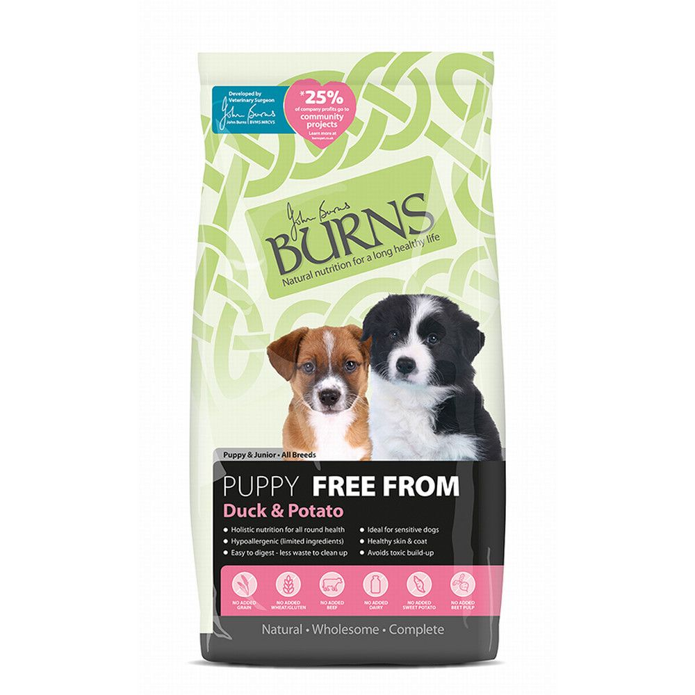 Duck & Potato Puppy Free From Burns Dry Dog Food