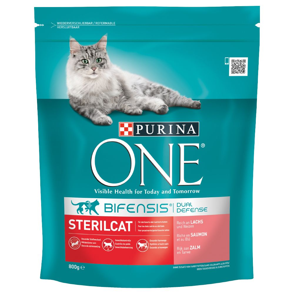 Sterilised Salmon Purina One Dry Cat Food